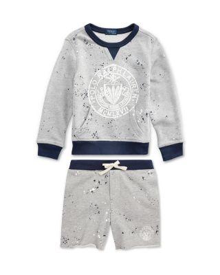 Boys' Splatter Logo Sweatshirt - Little Kid