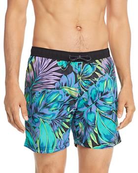 Scotch & Soda - Tropical-Print Swim Shorts