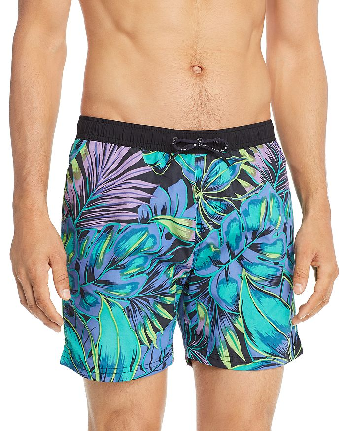 b7f4fc0bc2a Tropical-Print Swim Shorts