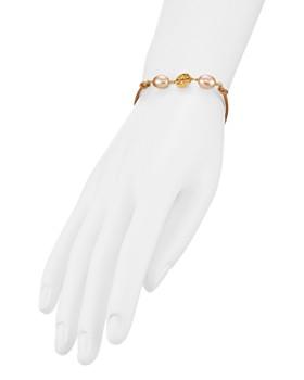 Tory Burch - Logo Cultured Freshwater Pearl Bracelet