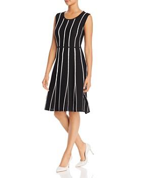 708d5418 Calvin Klein - Sleeveless Contrast-Seam Dress ...