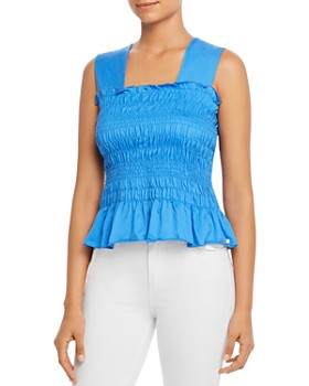 Scotch & Soda - Sleeveless Smocked Top