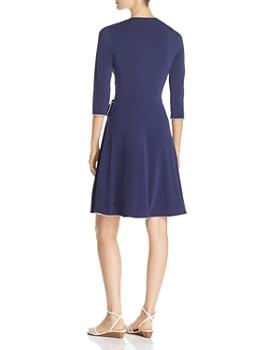 Leota - Floral-Print Faux-Wrap Dress