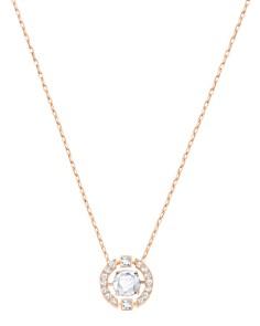 "Swarovski - Sparkling Dance Round Pendant Necklace, 14""L"