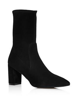 Stuart Weitzman - Women's Landry 75 Mid-Calf Block Heel Booties