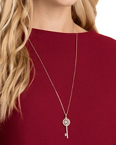 "Swarovski - Sparkling Dance Key Pendant Necklace, 25"""