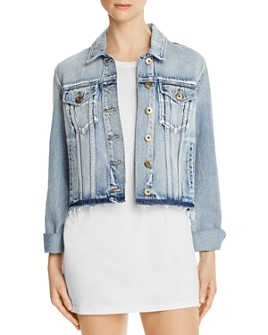 Pistola - Brando Distressed Cropped Denim Jacket
