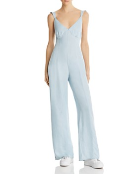 GUESS - Tie-Back Wide-Leg Jumpsuit