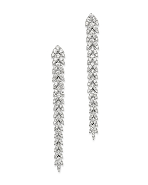 Bloomingdale's Diamond Feather Drop Earrings in 14K White Gold, 0.70 ct. t.w. - 100% Exclusive