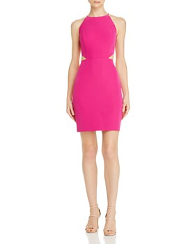 Aidan by Aidan Mattox - Cutout Crepe Cocktail Dress