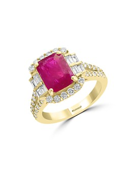 Bloomingdale's - Ruby & Diamond Statement Ring in 18K Yellow Gold  - 100% Exclusive