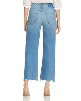 MOTHER - The Rambler Chewed-Hem Straight-Leg Jeans in Post No Bills