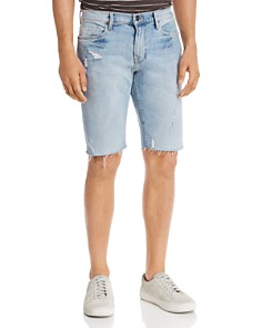 FRAME - L'Homme Cut-Off Straight Fit Denim Shorts in Hideout