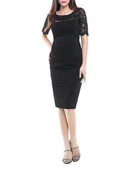 Kimi & Kai - Jenna Lace-Sleeve Maternity Dress