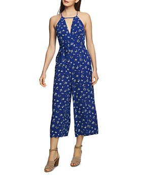 1.STATE - Sleeveless Floral-Print Jumpsuit