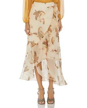 5631f7133 VINCE CAMUTO - Paisley-Print Ruffled Wrap Skirt ...