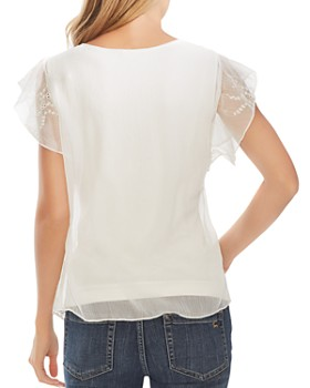 VINCE CAMUTO - Eyelet Flutter-Sleeve Top - 100% Exclusive