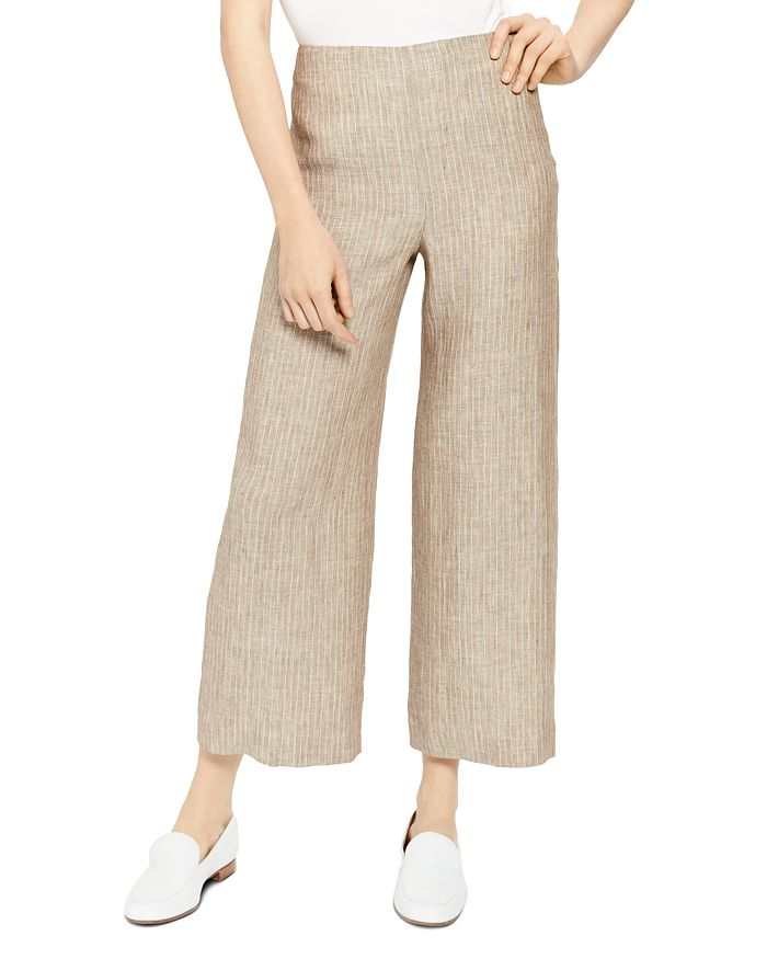 Theory - Striped Crop Pants