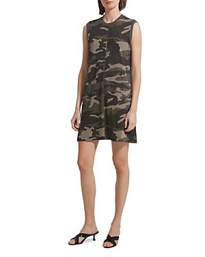 Atm Anthony Thomas Melillo Slub Jersey Camo Tank Dress