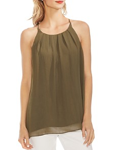 VINCE CAMUTO -  Chiffon Pleat-Front Cami