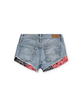 Ralph Lauren - Girls' Bandana-Trim Denim Shorts - Little Kid