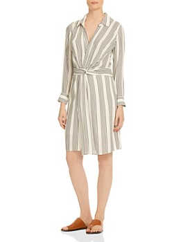 9ae1e7eace HALSTON HERITAGE - Striped Shirt Dress ...