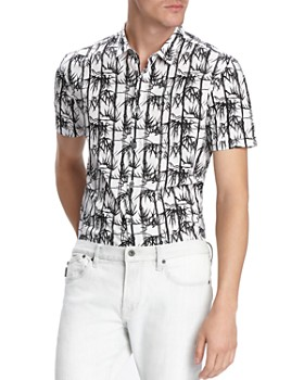 2b06112f843f7a John Varvatos Star USA - Jasper Short-Sleeve Bamboo-Print Slim Fit Shirt ...