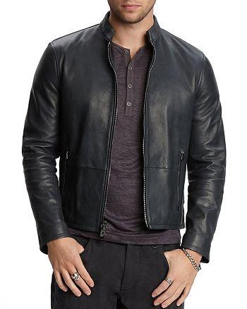 John Varvatos Collection - Zip-Front Leather Jacket