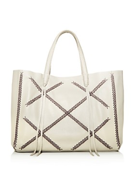 Callista - Iconic Cross-Stitch Leather Tote