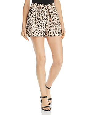 Joie Shorts CARDEN LEOPARD-PRINTED SHORTS