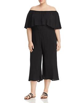 Elan Plus - Off-the-Shoulder Cropped Jumpsuit