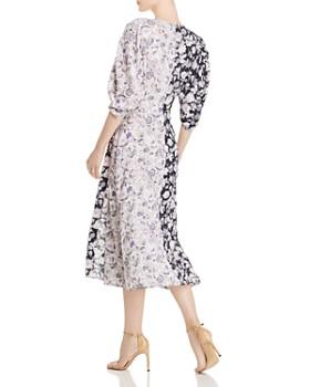 Amur - Nalla Color-Blocked Wrap Dress