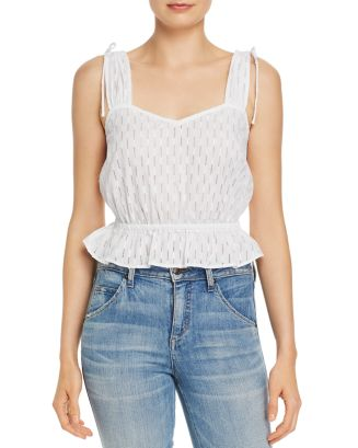 Binocular Perforated Peplum Tank by The Fifth Label