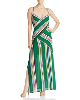 Adrianna Papell - Striped Maxi Dress