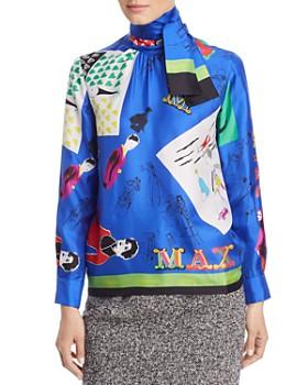 Max Mara - Riccio Printed Silk Blouse