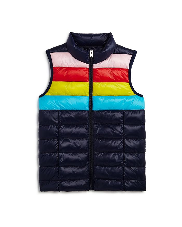 AQUA - Girls' Striped Puffer Vest, Big Kid - 100% Exclusive