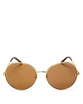 Stella McCartney - Women's Mirrored Round Sunglasses, 62mm