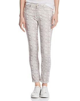 AG - Prima Mid-Rise Ankle Skinny Jeans in Silk Python