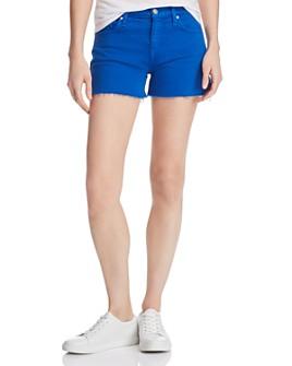 Hudson - Gemma Cutoff Denim Shorts in Racer Blue