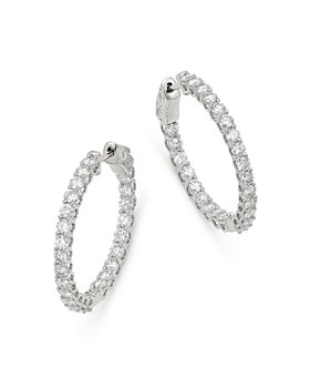 Bloomingdale's - Diamond Inside Out Hoop Earrings in 14K White Gold, 2.5 ct. t.w. - 100% Exclusive
