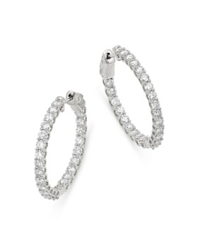 c92df8e06 Bloomingdale's - Diamond Inside Out Hoop Earrings in 14K White Gold, 2.5 ct.