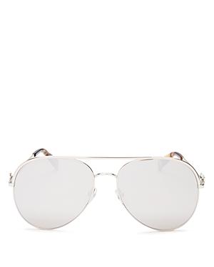 Marc Jacobs Women\\\'s Marc Daisy Brow Bar Aviator Sunglasses, 58mm