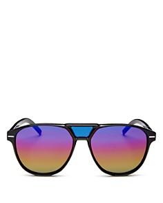 Dior - Men's Black Tie Brow Bar Round Sunglasses, 56mm