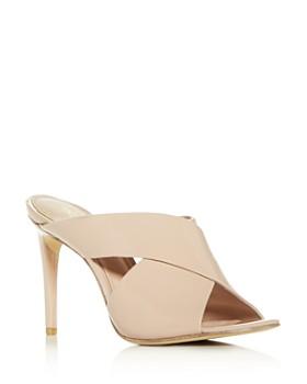 Rachel Zoe - Women's Lauren Crisscross High-Heel Slide Sandals