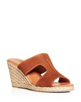 Andre Assous - Women's Alana Espadrille Wedge Slide Sandals