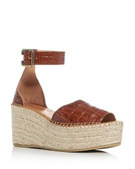 Andre Assous - Women's Luz Croc-Embossed Espadrille Platform Sandals