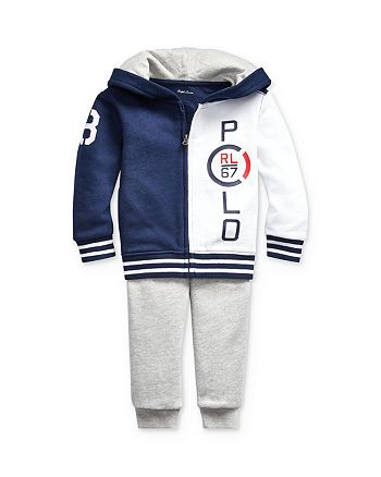 Ralph Lauren - Boys' French Terry Polo Hoodie & Pants Sets - Baby