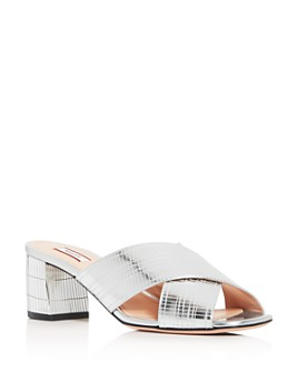 Bally - Women's Evoria Crisscross Block-Heel Sandals