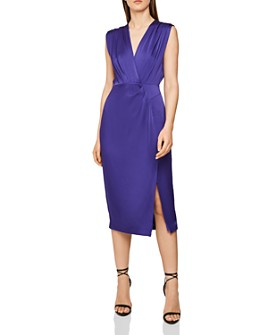 REISS - Elaini Crossover Midi Dress