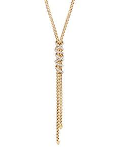 "David Yurman - 18K Yellow Gold Helena Y Necklace with Diamonds, 18"""